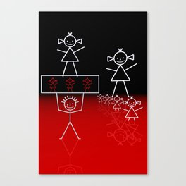 stick figures -03- Canvas Print