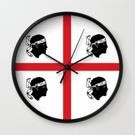 sardinia island italy country region flag Wall Clock
