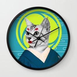 Geisha Cat Wall Clock