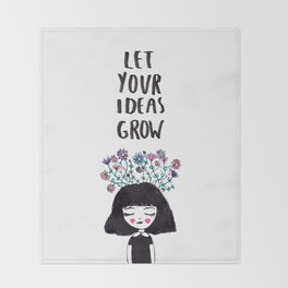 Let Your Ideas Grow Throw Blanket
