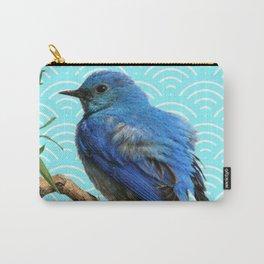 AQUA SPRING BLUE BIRD ART Carry-All Pouch
