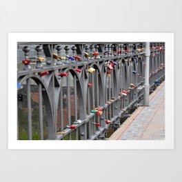 Lovers' padlocks Art Print