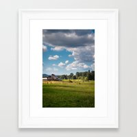 farm Framed Art Prints featuring Farm by Pete Kurkowski