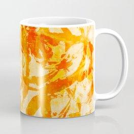 abstract stormy splashy texture (fiery yellow/orange) Coffee Mug