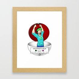 JackSepticEye! I choose you! Framed Art Print
