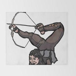 Central Asian Archer (transparent) Throw Blanket