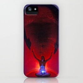 0090-Mak Centered in the Light She Calls the Darkness In iPhone Case