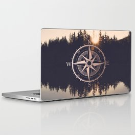 Rose Gold Compass Forest Laptop & iPad Skin