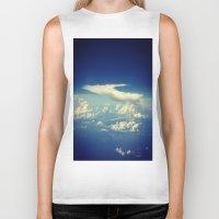 cloud Biker Tanks featuring  Cloud by Sumii Haleem