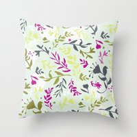Vines Vines Vines Throw Pillow