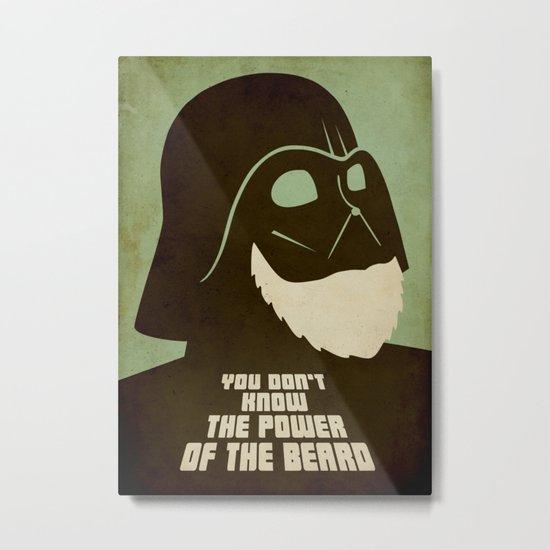 Beard Vader Metal Print