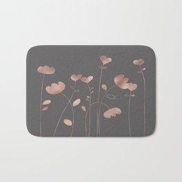 Rosegold pink flowers- floral design- Flower Bath Mat