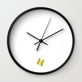 Be the One Everyone Wants to Watch Softball Wall Clock