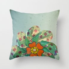 The Silver Flower Throw Pillow