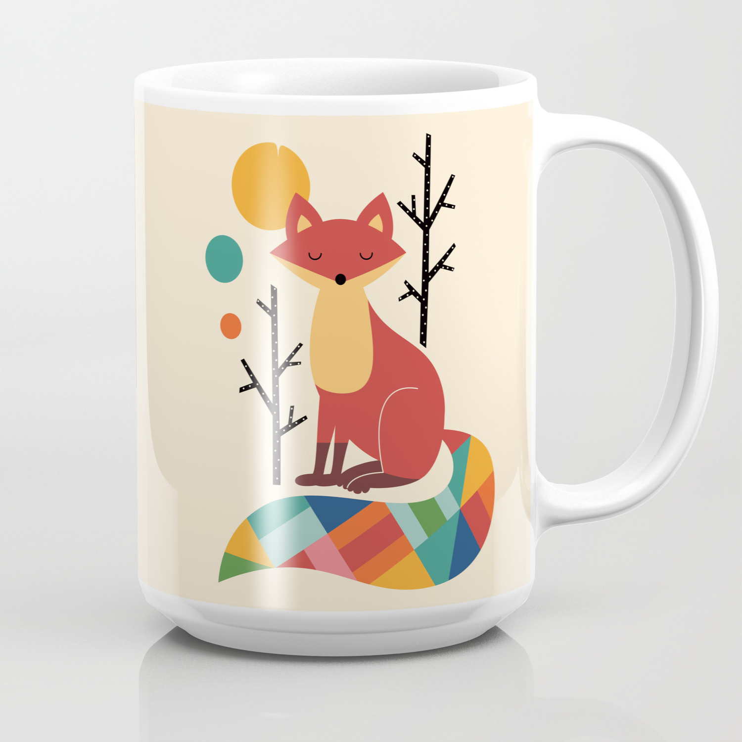 Rainbow Fox Coffee Mug By Andywestface Society6
