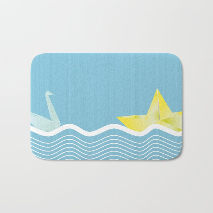 Origami summer Bath Mat