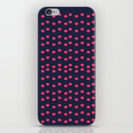 Pink dots on Blue iPhone Skin