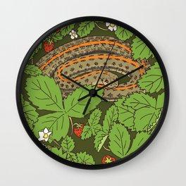 Snake & Strawberries Wall Clock