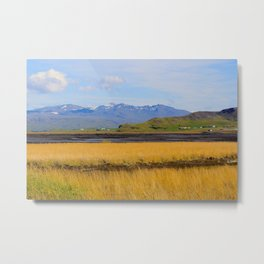Icelandic fields Metal Print