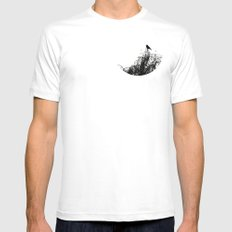 Black Bird Mens Fitted Tee MEDIUM White
