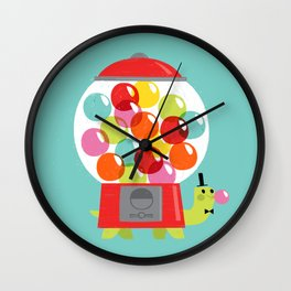 Mr. Turtle's Gumball Factory! Wall Clock