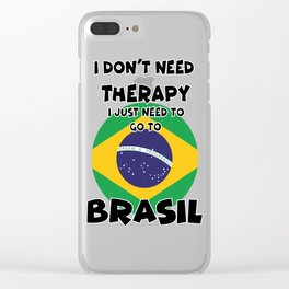 BRASIL Clear iPhone Case