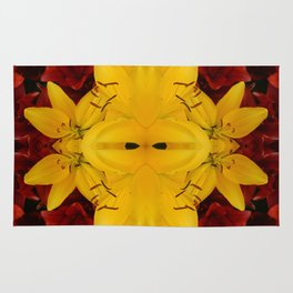 """""""A Gathering of Lilies"""" Remix - 2 (3-1) [D4466~24] Rug"""
