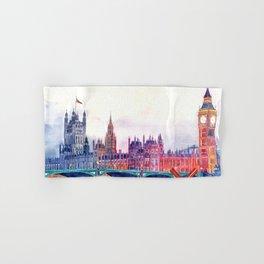 Sunset in London Hand & Bath Towel