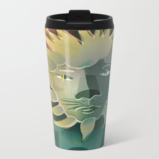 Leo / Zodiac Metal Travel Mug