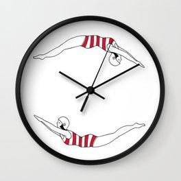 You Jump I jump Vintage swimmer Wall Clock