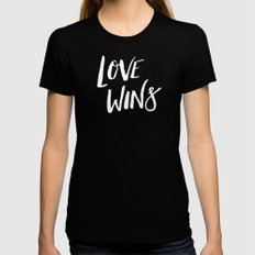 LOVE WINS Womens Fitted Tee Black MEDIUM