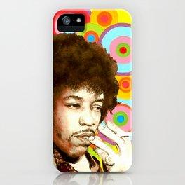 Jimi Hendrix (Peace & Love) iPhone Case