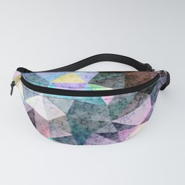 Marble polygonal pattern Fanny Pack