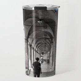 Black and white Bologna Street Photography Travel Mug