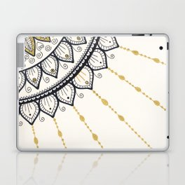 Mandala - Gold and Black Laptop & iPad Skin