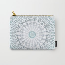 Teal Aqua Mandala Carry-All Pouch