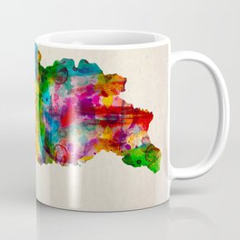 Georgia Map in Watercolor Coffee Mug