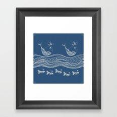 Swimtangle Framed Art Print