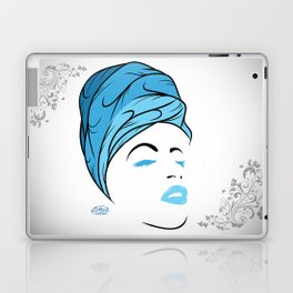 Lady Wrap (blue) Laptop & iPad Skin