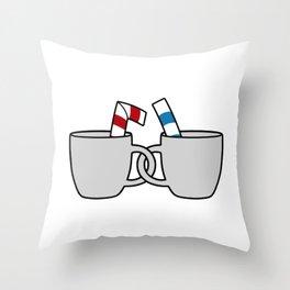 Cuphead & Mugman Crewneck Throw Pillow