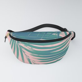 Palm Leaves Blush Summer Vibes #2 #tropical #decor #art #society6 Fanny Pack