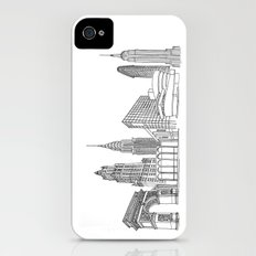NYC Landmarks by the Downtown Doodler Slim Case iPhone (4, 4s)