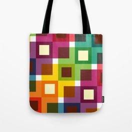 Geometric Pattern 11 (Colorful squares) Tote Bag