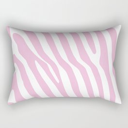 Baby Pink Zebra Stripes Rectangular Pillow