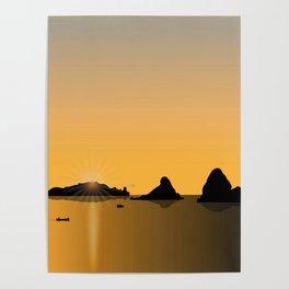 Gold Sunset Poster