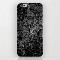 cincinnati iPhone & iPod Skins featuring Cincinnati map by Line Line Lines