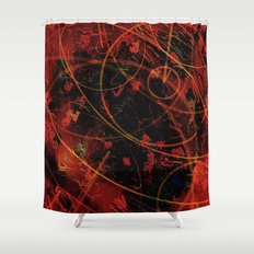 circular motion in red Shower Curtain