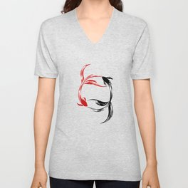 Koi Yin & Yang Unisex V-Neck