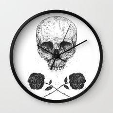 Skull N' Roses Wall Clock