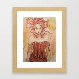 Vampire Gabrielle Framed Art Print
